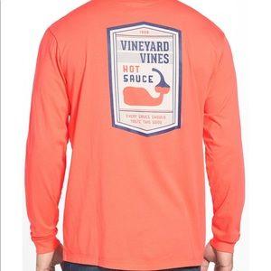 Vineyard Vines Tops - vineyard Vines long sleeve t-shirt hot sauce
